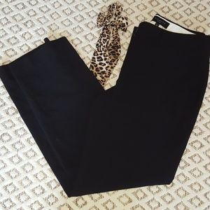Talbots 8p black ankle pant, black slacks